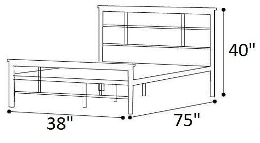 Howard Metal And Wood Urban Platform Twin Bed Black