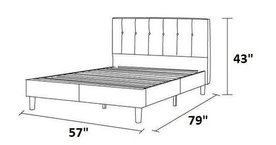 Brandy Platform Full Bed Gray