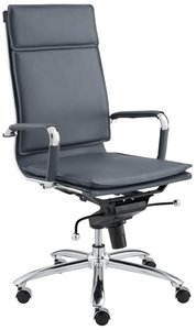 Gunar Pro High Back Office Chair Blue & Chrome