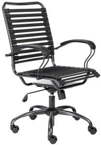 Bungie Flat J-Arm High Back Office Chair Black