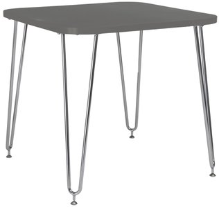 Hanh Activity Desk Gray & Chrome
