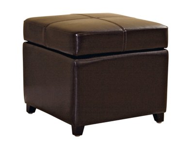 Storage Cube Ottoman Dark Brown