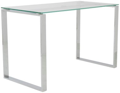 Diego Desk Clear & Stainless Steel