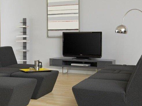 """Miranda 63"""" TV Stand Gray"""