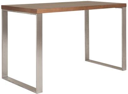 Dillon Desk Walnut & Stainless Steel