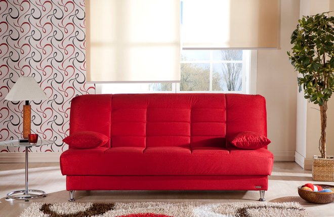 Vegas Sleeper Sofa Rainbow Red