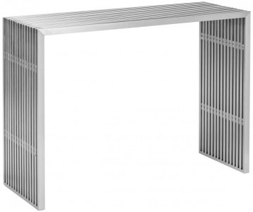 Novel Console Table Brushed Steel