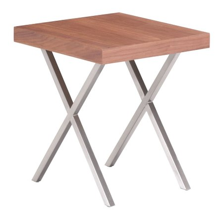 Renmen End Table Walnut