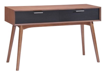 Liberty City Console Table Walnut & Black