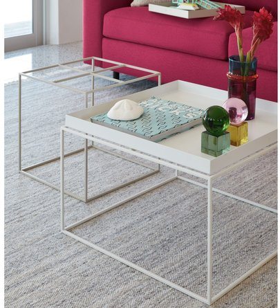 Tray Side Table Warm Gray