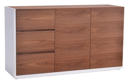 Saints Sideboard White & Walnut