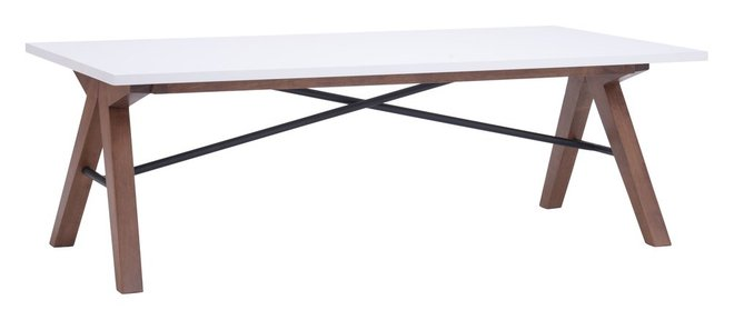 Saints Coffee Table Walnut & White