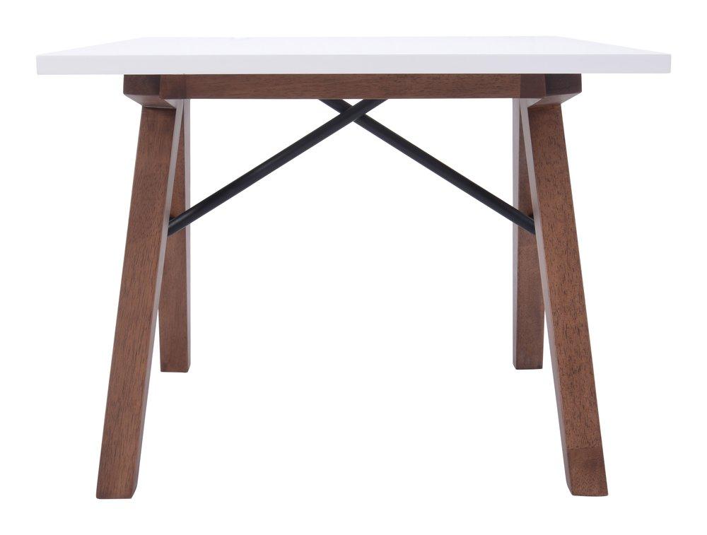 Saints Side Table Walnut & White