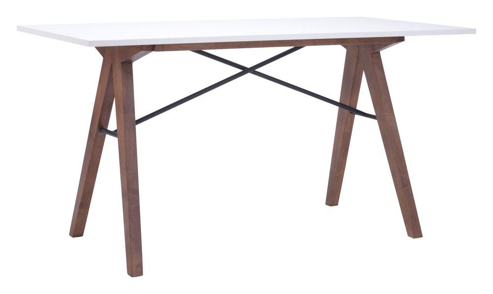 Saints Dining Table/Desk Walnut & White
