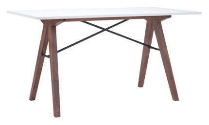 Saints Dining Table/Desk Walnut & White