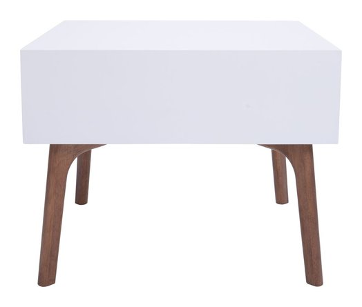 Padre End Table Walnut & White