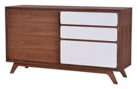 Father Cabinet Walnut & White