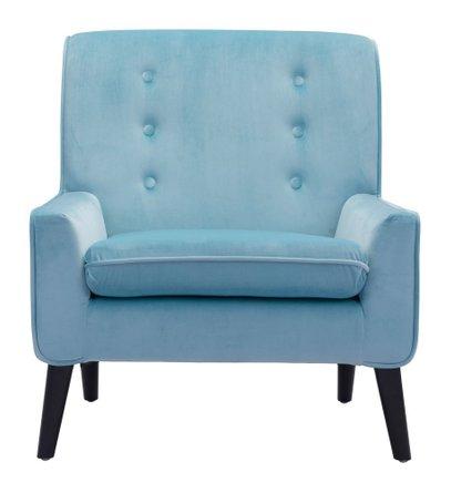 Coney Arm Chair Aqua Velvet