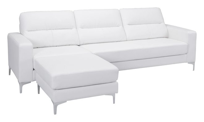 Versa Sectional White