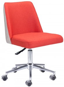 Season Office Chair Orange And Beige