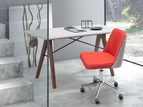 Season Office Chair Orange And Beige