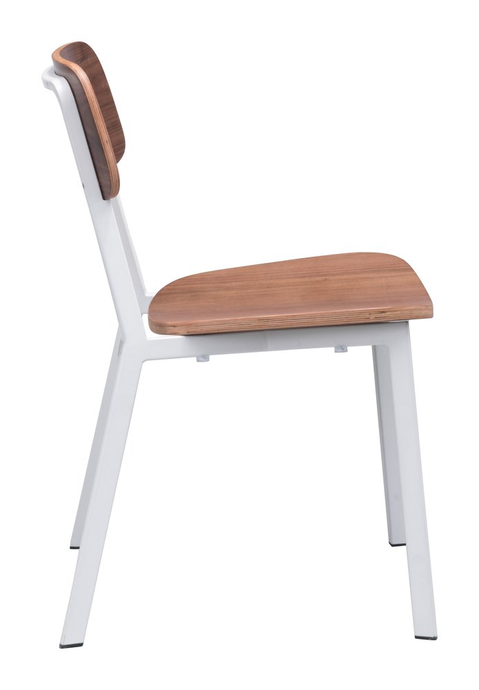 Cappuccino Dining Chair White & Walnut ( Set of 4 Units )