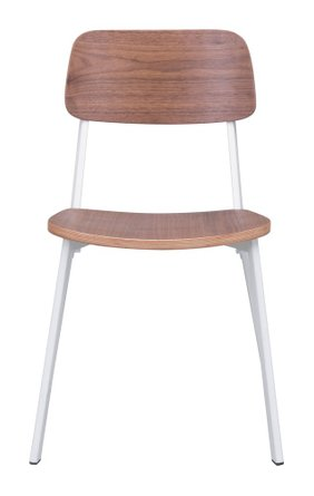 Cappuccino Dining Chair White & Walnut (Set of 4)
