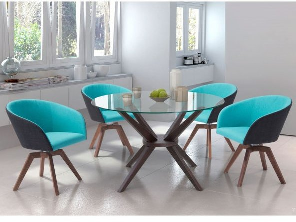 Wander Dining Chair Blue & Gray (Set of 2)