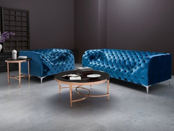 Elite Coffee Table Black And Rose Gold