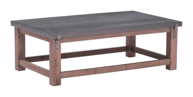 Greenpoint Coffee Table Gray & Distressed Fir
