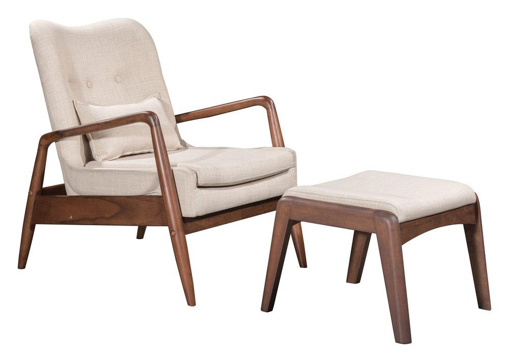Bully Lounge Chair & Ottoman