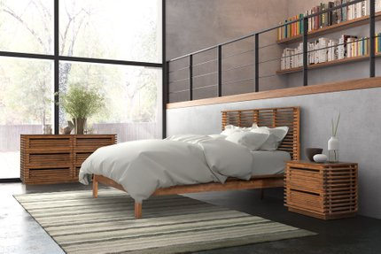 Linea Queen Bed Walnut