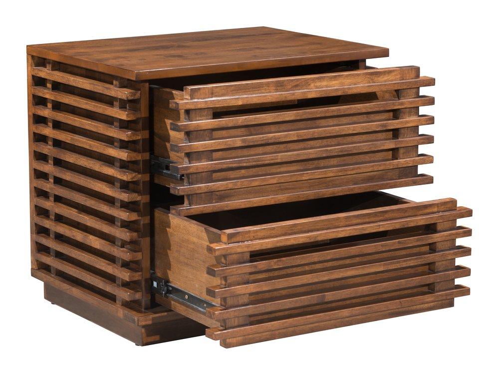 Linea End Table Walnut