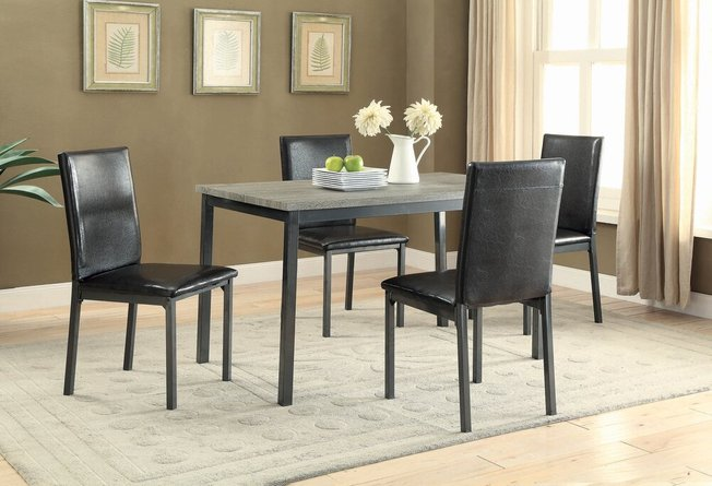 Garza Dining Table Black And Gray