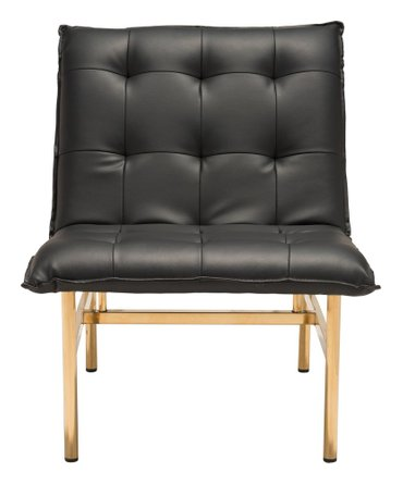 Slate Chair Black And Gold