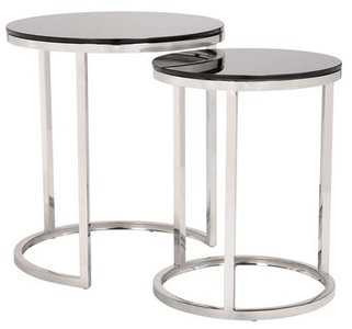 Rem Coffee Table Set Black And Stainless Steel