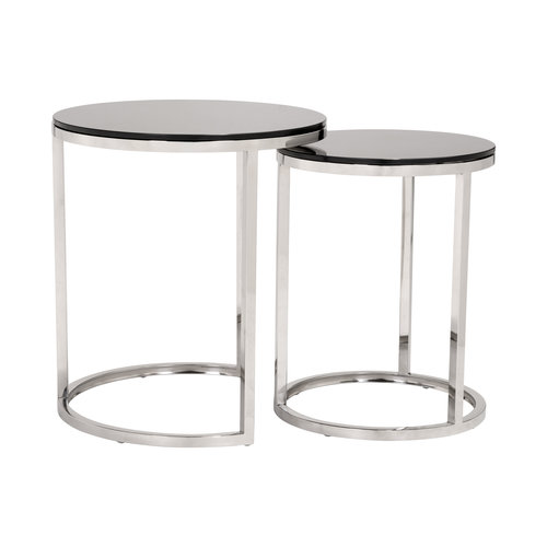 Rem Coffee Table Sets Black & Stainless