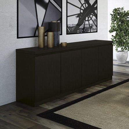 Viennese 6 Shelf Buffet Cabinet Black Matte