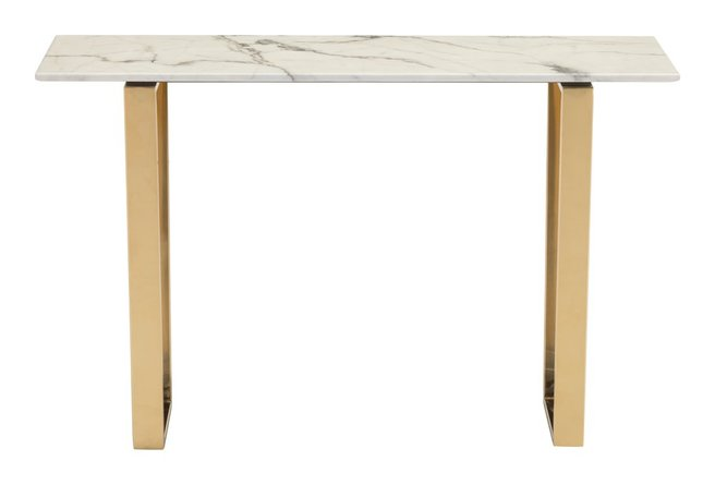 Atlas Console Table White & Gold