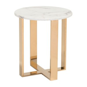 Atlas End Table Stone/Gold