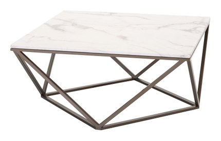 Tintern Coffee Table Stone & Antique Brass