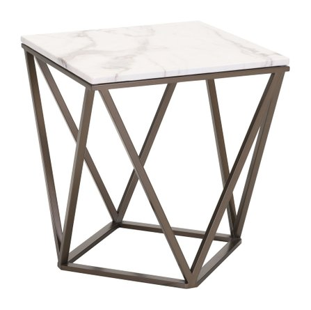 Tintern End Table White