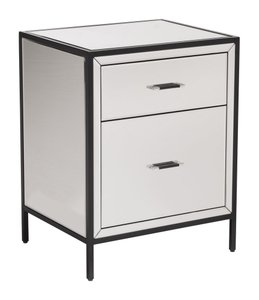Upton End Table White And Black