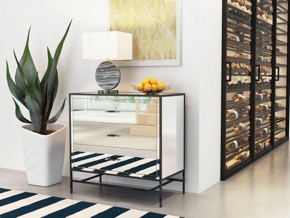 Upton Cabinet Mirror & Metal