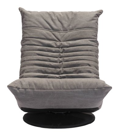 Down Low Swivel Chair Gray