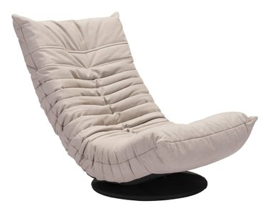 Down Low Swivel Chair Beige