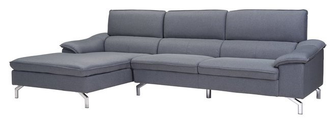 Ephemeral Sectional (LHF) Gray