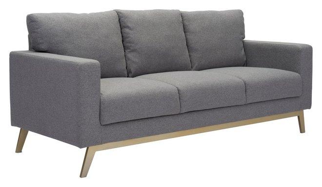 Morgan Sofa + Arm Chair Set Dark Gray