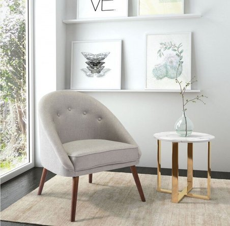 Carter Occasional Chair Light Gray