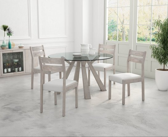 Beaumont Dining Chair White (Set of 2)